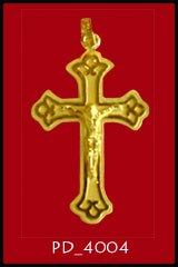 Baht Gold crucifix PD_4004